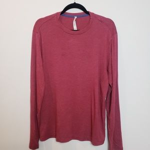 Lululemon Men's Long Sleeve Crew Neck Shirt Red